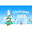 beautiful christmas poster with tree houses vector image vector image