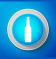 beer bottle icon isolated on blue background vector image vector image