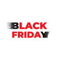 black friday sale design template black friday vector image vector image