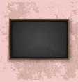 blackboard on the wall vector image vector image
