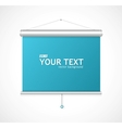 Blank roll up poster vector image vector image