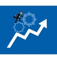 businessman and gear icons image vector image