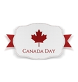 Canada Day Banner with Ribbon vector image