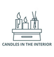 candles in interior line icon candles vector image vector image