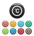 celsius icons set color vector image
