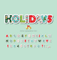 christmas cut out decorative font scrapbook paper vector image vector image