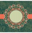 circle vintage ornamental template vector image vector image
