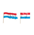 colorful naturalistic waving luxembourg flag vector image