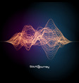 colorful sound or signal design vector image vector image