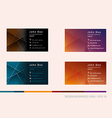 Creative development of business cards in a differ vector image vector image