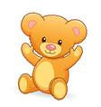 cute cuddly teddy bear vector image vector image