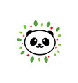 cute panda on positive baby vector image vector image