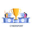 cybersport concept for web banner website vector image vector image