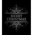 Decorative Merry Christmas inscription vector image vector image