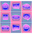 did you know - labels or badges speech vector image