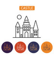 dracula s castle icon vector image