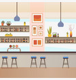 empty bar or pub interior flat vector image vector image