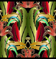exotic tropical floral seamless pattern vector image