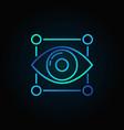 eye blue icon vector image vector image