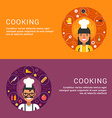 Flat Design Concept for Web Banners Cooking Food vector image vector image