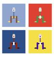 flat icon design collection piston scheme vector image vector image