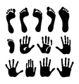 Generation hand foot print set vector image vector image