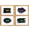 Hand drawn charcoal chalk texture set vector image