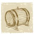 hand drawn wine vector image