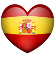 heart shape icon for spain flag vector image vector image