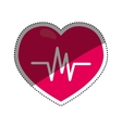 Heartbeat medical healthcare vector image vector image