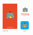 hospital company logo app icon and splash page vector image