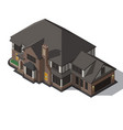 house decorated in style half-timbered framework vector image