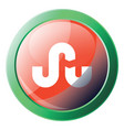 icon a stumbleupon sign with green round frame vector image vector image