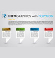 infographics with polygon in square vector image