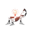 innovation creativity teamwork concept sketch vector image
