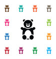 isolated teddy icon doll element can be vector image vector image
