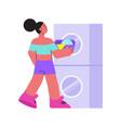 launderette flat icon vector image