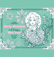 merry christmas and happy new year 2020 horizontal vector image vector image