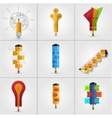 modern pencil infographics set vector image vector image
