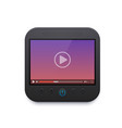 movie and video player interface icon ui design vector image