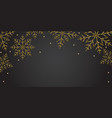 new year horizontal black banner background with vector image vector image