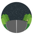 night road flat landscape vector image vector image
