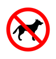 No dogs allowed sign vector image