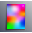 poster template design with colorful gradient vector image