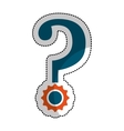 question mark isolated icon vector image vector image