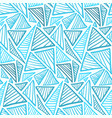 seamless pattern with ice blue lined triangles vector image