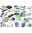 set - computer world accessory vector image