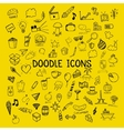 Set of doodle icons hand-drawn objects on vector image vector image