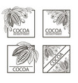 set of frames with cocoa vector image vector image