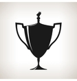Silhouette cup of winner gold trophy cup vector image vector image